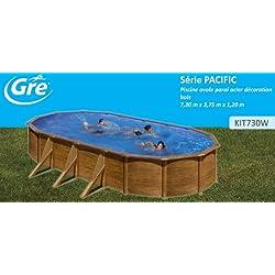 San Marina Pools - Piscina de chapa Pacific 730 x 375 x 120 cm + depuradora de arena Gre