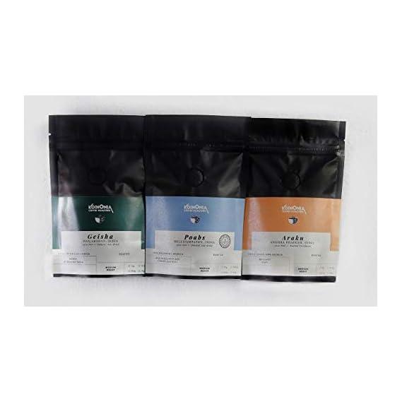 Koinonia Coffee Roasters Taster Pack Arabica (Medium Roast) 3X75 Gms