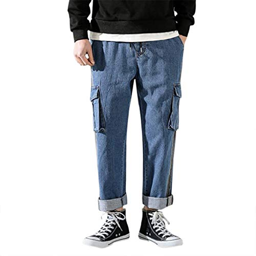 Herren Freizeit Mode Druckfarbe Outdoorsport Overalls Lange Hosen Fashion Clothing Vogue Casual Trending Tooling Pants Marine M L XL XXL.3XL 4XL