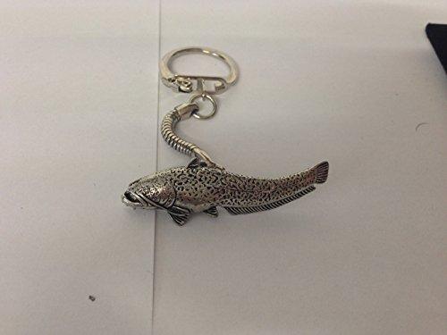 Prideindetails, F46 Wells, Wels-Anhänger aus feinem englischen Zinn an einem Schlüsselring mit Schlangenkette, mit Geschenkverpackung, handgefertigt in Sheffield (Zinn Schlüsselring)