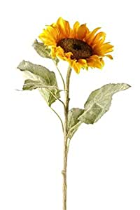 2 pack girasole, giallo, pianta artificiale / fiore, 80 centimetri