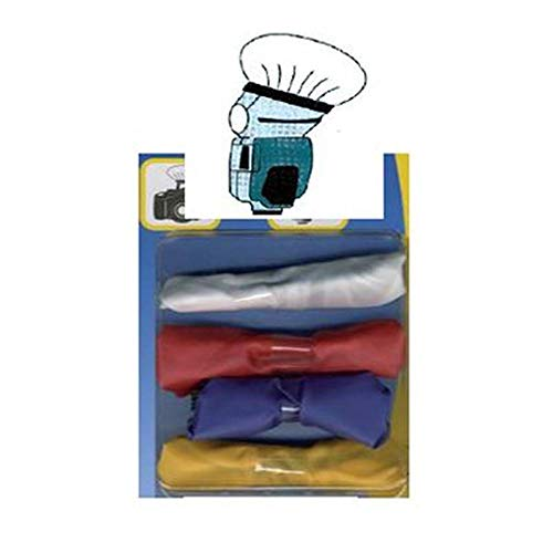 DÖRR Blitzvorsatz-Set Diffuser Caps Large 13cm (weiß, blau, gelb, rot)