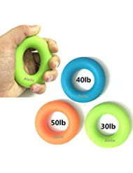 #1 Hand Grip Fortifiant Main, Atelic® Yoga Hand Grip Strengthener Exercisers - 3 level with Increased Resistances Perfect for Increasing Hand, Finger, Wrist, and Forearm Strength