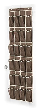 Wander Agio 24-pocket Over-the-door Womens Shoes Kids Hanging Accessories Closet Organizer Coffee by Wander Agio