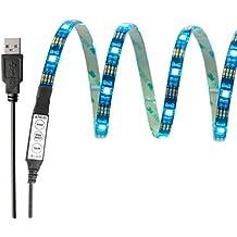 InnoBeta® 90cm(35.4pollice) Retroilluminazione LED Multicolore DC5V 6.5W Striscia USB Flessibile Impermeabile IP65 SMD5050 RGB Tagliabile per TV, HDTV, Schermo LCD, Laptop, Desktop PC, Esterni, Camera da Letto, Migliore l'Atmosfera e Riduce l'Affaticamento degli Occhi
