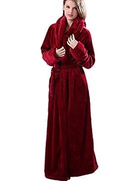 DMMSS Coppie più lunghi spessi accappatoi Coral Fleece camicia da notte abbigliamento pigiama di flanella , m...
