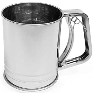 Andrew James Stainless Steel Flour Sifter with Trigger
