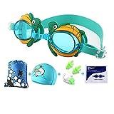 Spfree Occhialini Nuoto Bambino, Nuoto Occhiali per Bambini e Adolescenza da 3 a 12Anni, Anti Nebbia, Impermeabile, Protezione UV,