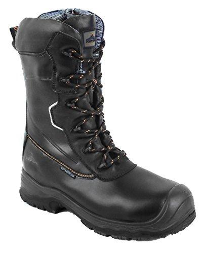 "41L2FgV8  L - Portwest FD01BKR43 Compositelite Traction, 10"" (25 cm) Safety Boot, S3 HRO CI WR, Regular, Size: 43, Black Reviews and price compare uk"
