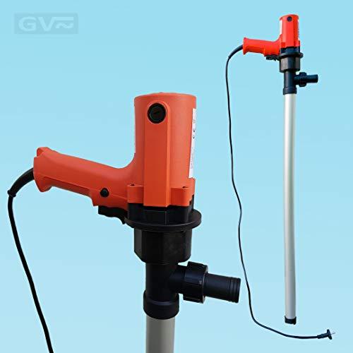 GV Pumpentechnik Fasspumpe DFP750 für Diesel, Heizöl, Adblue und Wasser - 750W - 100 l/min - 6000 l/h - Aluminium Saugstab - 100{61a9cea1a476ddacfdce8c81ab4ca0bc6052689171661c0ecf36015ffe3d300a} selbstansaugend
