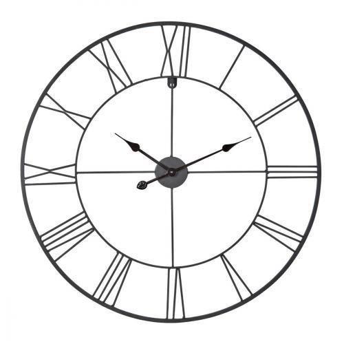 Ceanothe 34458 Horloge Forge Noir 80 cm