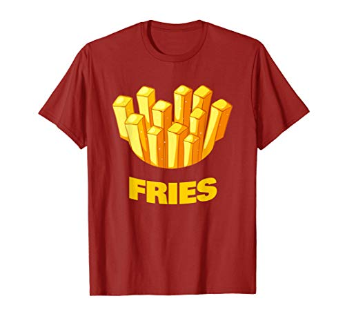 French Fries Halloween Couple Costume T-Shirt (Tee-party Food-ideen Halloween)