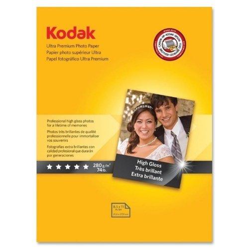 Kodak-carta fotografica ultra premium-lettera 21,59 cm x (8,5 27,94 (11 cm, lucida, confezione da 25