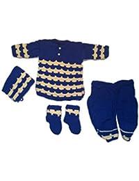 CutiePie Collections Handmade Woollen Dhoti Kurta Set (0-9 Month Baby)