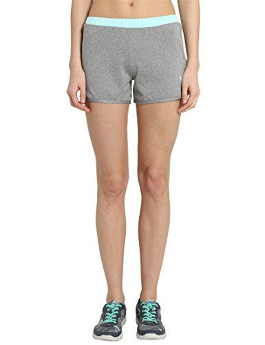 Ultrasport - Pantalones cortos de fitness para mujer, gris / agua, tal