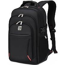 31L Mochila Bolso Escolar Morral De Laptop hasta 16 pulgadas Impermeable y Resistente Mochila para negocios Viajes Trabajo para los hombres y las mujeres (Negro)