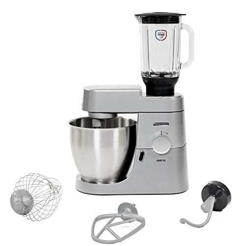 Kenwood Chef XL KVL4120S - Robot de cocina (6,7 L, Plata, Giratorio, CE, Acero inoxidable, Aluminio)