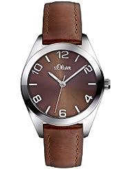 s.Oliver Damen-Armbanduhr XS Analog Quarz Leder SO-2770-LQ