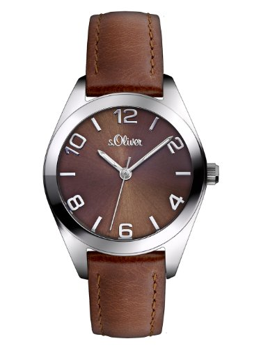 s.Oliver Damen-Armbanduhr XS Analog Quarz Leder SO-2770-LQ