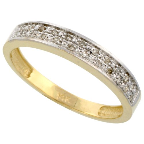 9ct Gold Men's Diamond Band, 4 mm Wide