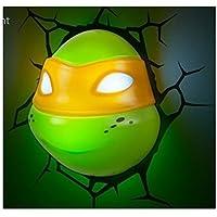 3D Deco Light ~~ Teenage Mutant Ninja Turtles / Michelangelo ~~ Looks like Michelangelo the Turtle has broken through the wall! ~~ Games Room / Kids Room