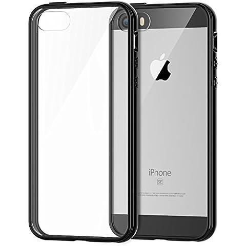 JETech Bumper Case - Funda para móvil Apple iPhone 5, color negro