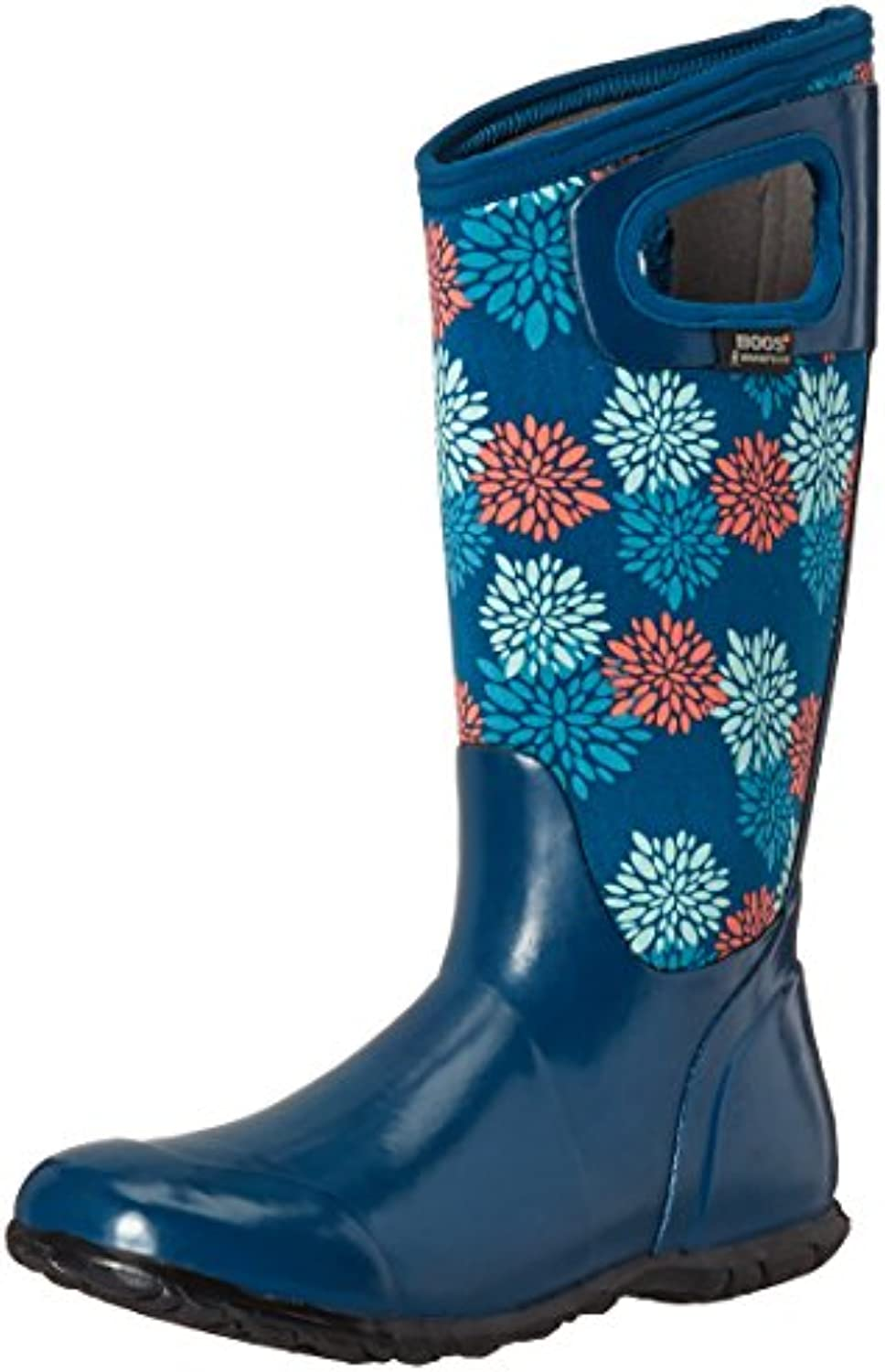 Bogs Ladies North Hampton Pompons Blue Insulated Warm Wellington Boot 72040-UK 8 (EU 42)
