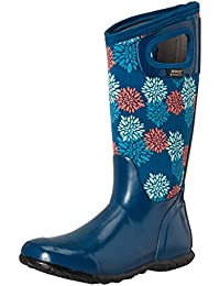 Ladies Bogs North Hampton Pompons Blue Insulated Warm Wellington Boot 72040-UK 6.5 (EU 40)