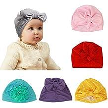 ZoomSky Bonnet Turban Bébé, 6 Pcs Bonnet Hôpital Bebe en Coton Chapeau  Naissance Mignon pour e9ad703a651