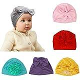 gorro de bebe recién ZoomSky 6pcs baby hat suave y cómodo de sombrero elástico algódon de conservar el calor para tomar el foto de cien día