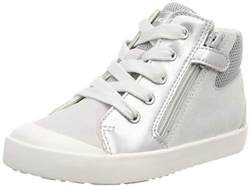 Geox Baby Mädchen B Kilwi Girl G Sneaker, Silber (Silver C1007), 25 EU