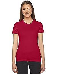 AA003 Women's Fine Jersey Short Sleeve Tee T-Shirt (2102) American Apparel 100% Combed Cotton