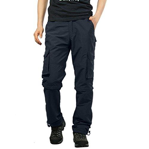 Malloom® Männliche Schnell Trocknende beiläufige Hosen im Freien Feste Lose Abnehmbare Overalls (Capri-baumwoll-overalls)