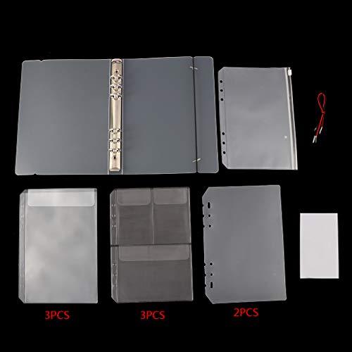 Vivitoch 1 Set transparent lose Binder Blatt A5 Innenseite Notizbuch Tagebuch Planer Bürobedarf 01 (3-ring-planer Binder)