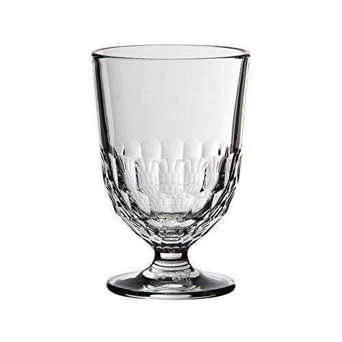 Côté Table Seite Tisch 25244'Artois Wasserglas mit Fuß Silber 31cl 8x 8x 12,5cm (6Stück)