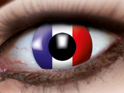 Rey Loco Länder Länderflaggen WM EM Fanartikel Kontaktlinsen Fun Linsen Fussball, Land wählen:Frankreich m908