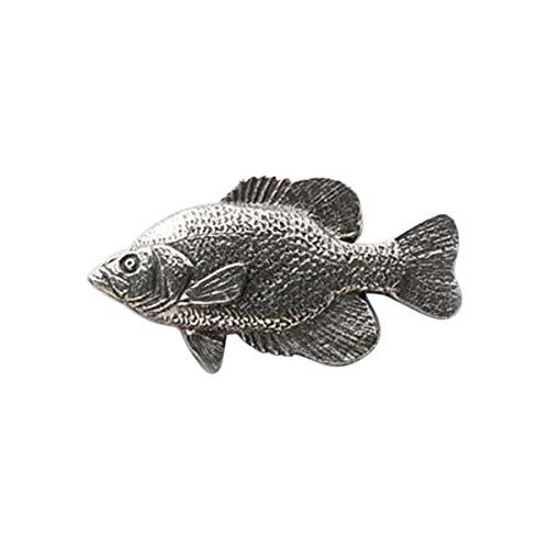 Zinn ~ schwarz Crappie ~ Anstecknadel/Brosche ~ F072 (Crappie Schwarz Fische)