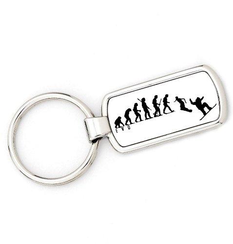Price comparison product image brandevo Mans Evolution Keyring Ape to Snowboard key ring gift