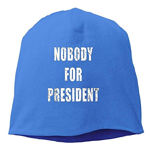 LOZWES Nobody for President.PNG New Winter Hats Knitted Twist Cap Thick Beanie Hat Royalblue