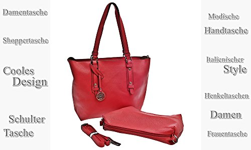 Dudlin, Borsa a spalla donna rosso rosso rosso