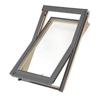 Dachfenster Balio Schwingfenster mit Eindeckrahmen 66x112 cm (66x118cm) (VKR Konzern Rooflite Velux)