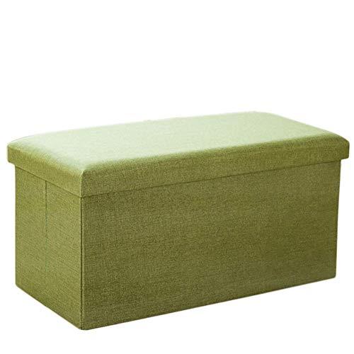 Pieghevole semplice poggiapiedi, armadio di stoccaggio robusto sedile spessa comfort sgabello in spugna piccolo divano giocattolo armadio home viaggio armadietto tessuto multi funzionale protezione am