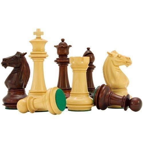 Templer-serie Rosenholz Luxus Schach Stücke 10.2cm