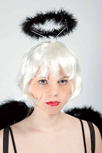 Noir Ange Kostüm - P'tit Clown Haarreif Heiligenschein Engel