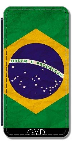 Leder Flip Case Tasche Hülle für Apple iPhone 5/5S - Brasilien Rio Flagge Brasilianisches by WonderfulDreamPicture Lederoptik