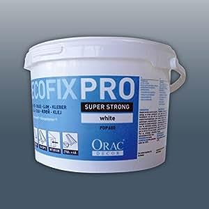 DecoFix Pro Orac Decor FDP600 Colle d'installation Seau de 4,2 l | 6,4 kg pour moulure corniche cimaise et panneau