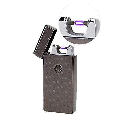 USB Elektronisches Feuerzeug Lichtbogen Stabfeuerzeug Elektro Feuerzeug (Schwarz) Topsense
