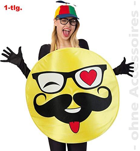 Nerdige Kostüm - Unbekannt Emoji Hipster Smileykostüm Emoticon Nerd Smiley Kostüm Unisex