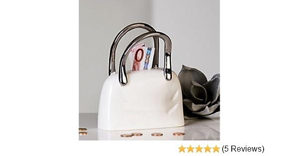 03e5913c1366b Casablanca Design Handtasche aus Keramik Geld box-white silber 14 x 4 x 18  cm  Amazon.de  Küche   Haushalt