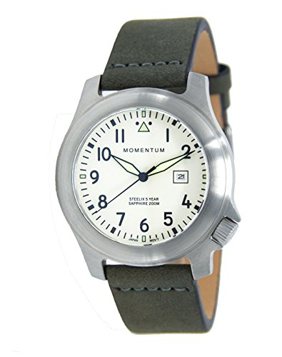 Men's Sports Watch |Steelix Sapphire Watch byMomentum | Stainless Steel Watches for Men | Analog Watchwith Japanese Movement | Water Resistant(200M/660FT)Classic Watch